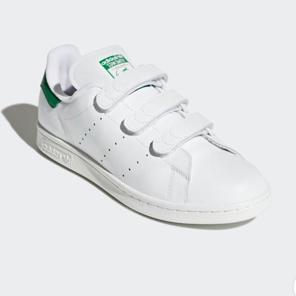 Adidas Stan Smith Velcro Mens 6 Womens